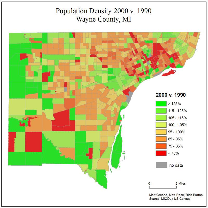 Urban Sprawl In Wayne County Mi